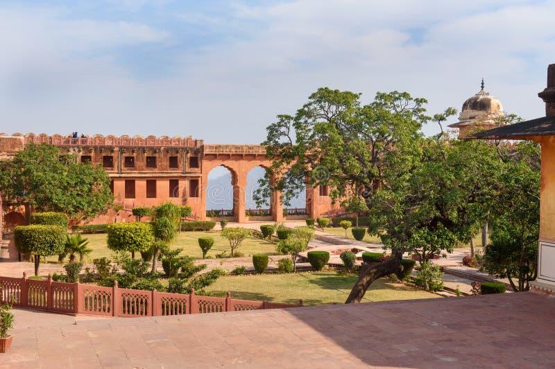 Charbaghtuin in Jaigarh-Fort jaipur India stock afbeeldingen