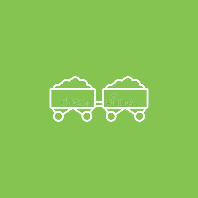 Charbon, énergie, icône d'eco - vecteur Illustration simple d'?l?ment de concept d'UI Charbon, énergie, icône d'eco - vecteur con illustration de vecteur