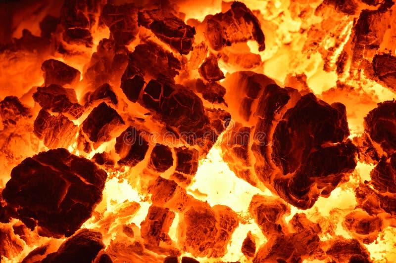 Charbon brûlant image libre de droits