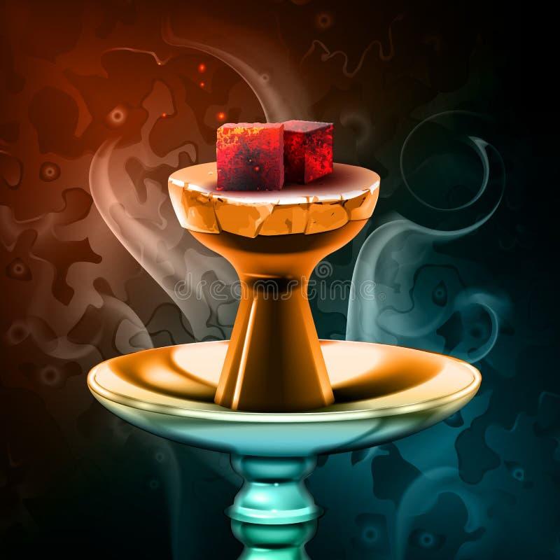 Charbons chauds de narguilé illustration de vecteur