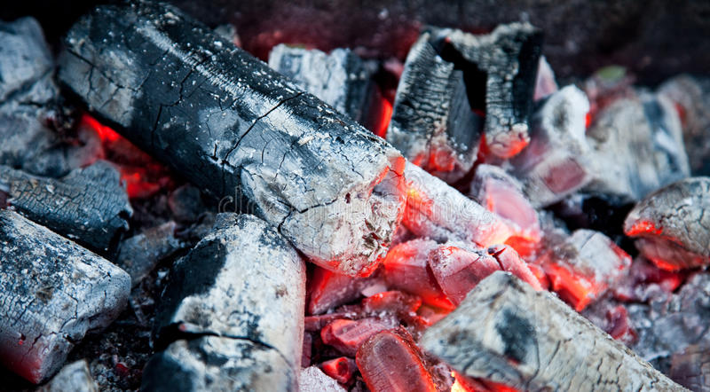 charbons heated photo libre de droits
