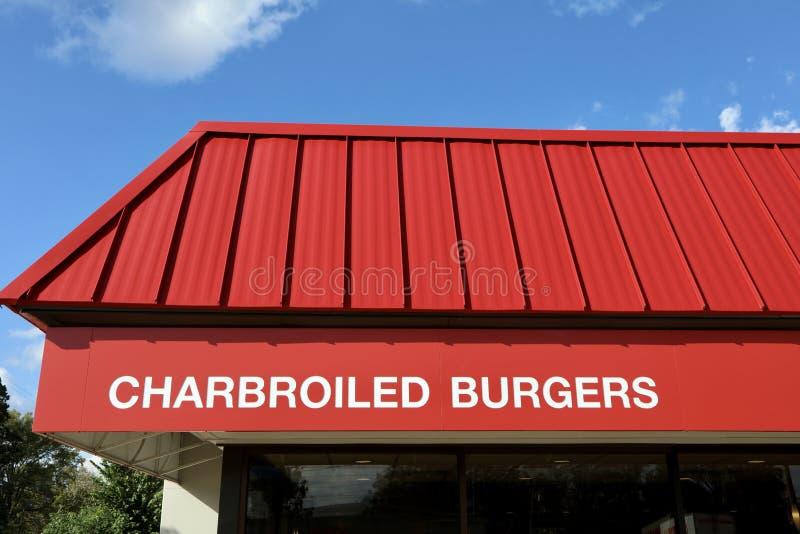 Charbroiledhamburgers royalty-vrije stock foto