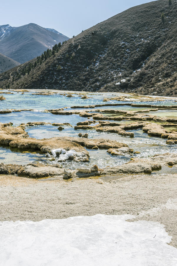 Charca calcificada moreno de Quanhua foto de archivo libre de regalías