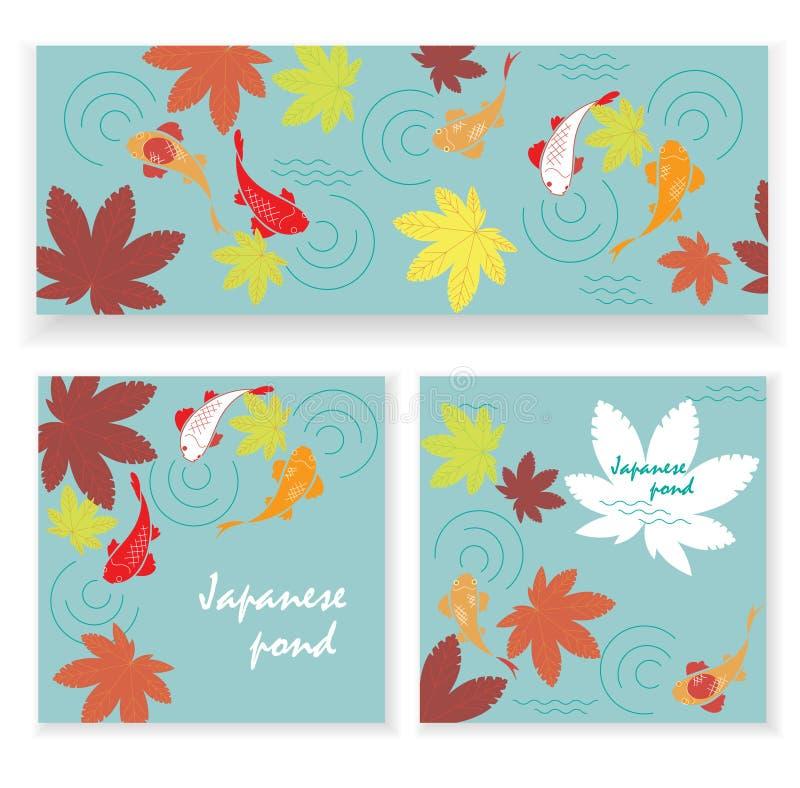 Charca de Autumn Japanese ilustración del vector