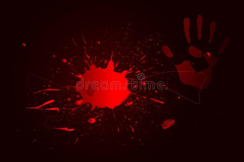 Charco de la sangre ilustración del vector