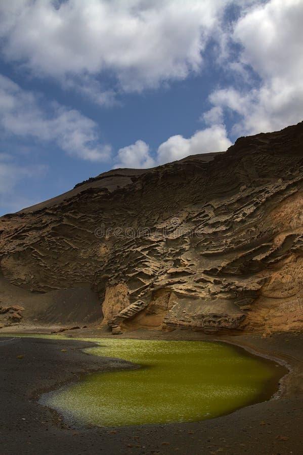Free Charco De Los Clicos Green Lagoon Stock Images - 182686504