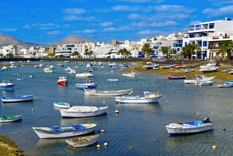 Charco de San Gines, in Arrecife, Lanzarote, Spanien stockfotografie