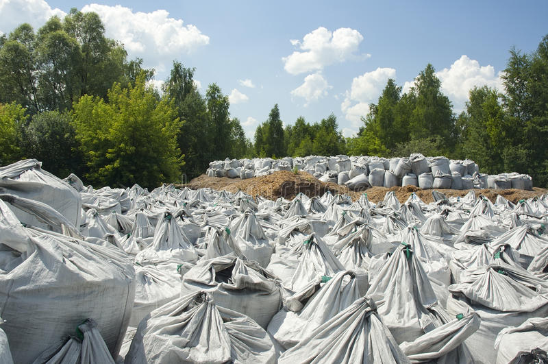 Charcoal bags royalty free stock photography