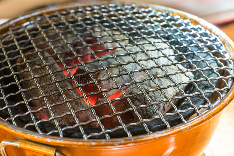 Charcoal brazier. Korea style.for grill stock photography