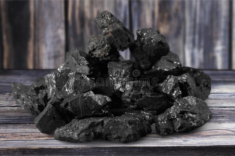 Charcoal. Carbonize carbon coal lump fuel closeup royalty free stock photo
