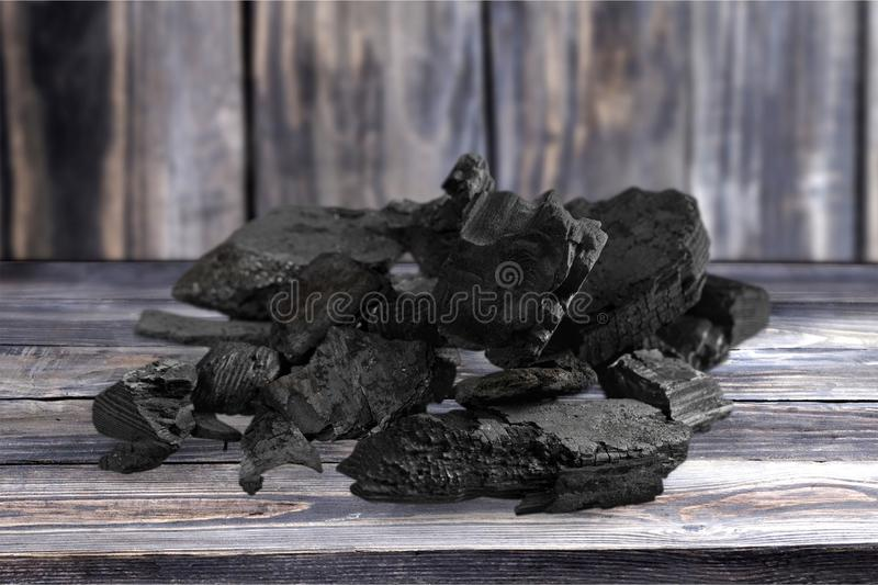 Charcoal. Carbonize carbon coal lump fuel closeup stock photos