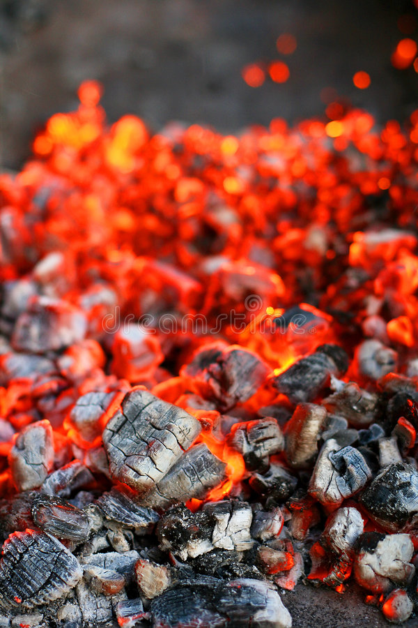 Charcoal combustion royalty free stock photography