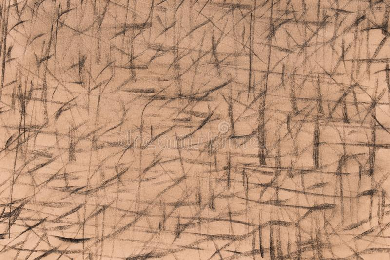 Charcoal drawing pattern on paper background stock images