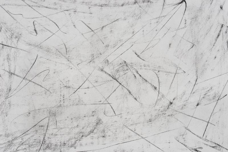Charcoal drawing pattern on paper background stock photos