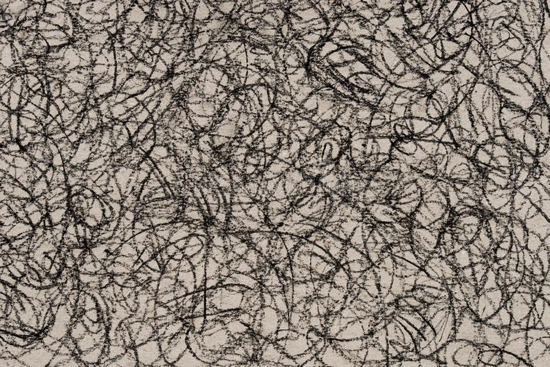 Charcoal drawing pattern on paper background stock image