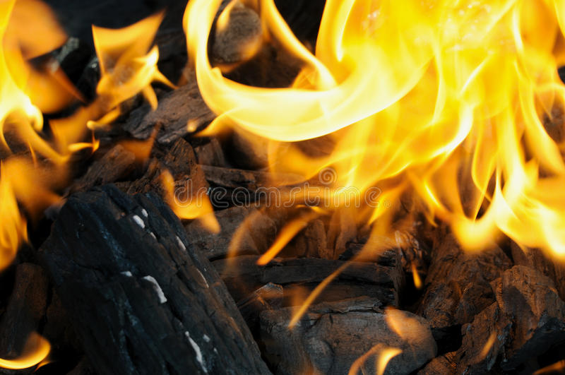 Charcoal Fire Stock Image