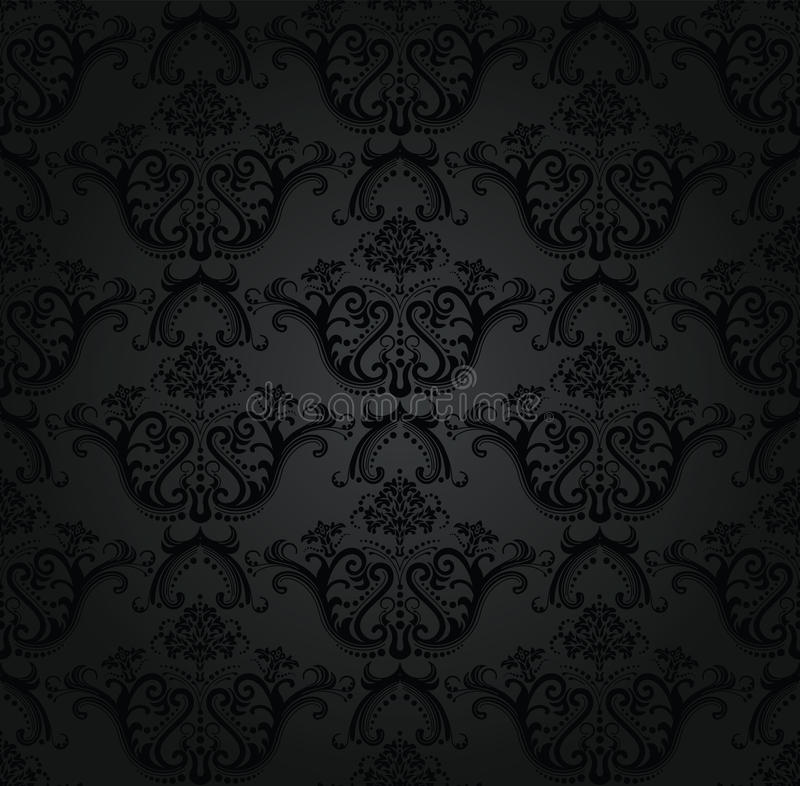 Free Charcoal Floral Seamless Wallpaper Royalty Free Stock Photography - 18658237