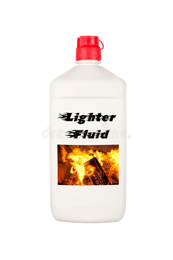 Download Charcoal lighter fluid stock image. Image of squirt, lighter - 24536317