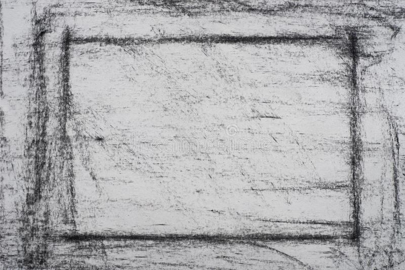 Charcoal on paper drowing background texture stock photo