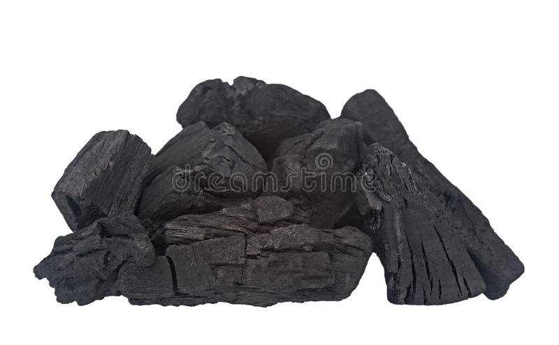 Download Charcoal Pieces On White. Stock Photo - Image: 83709656