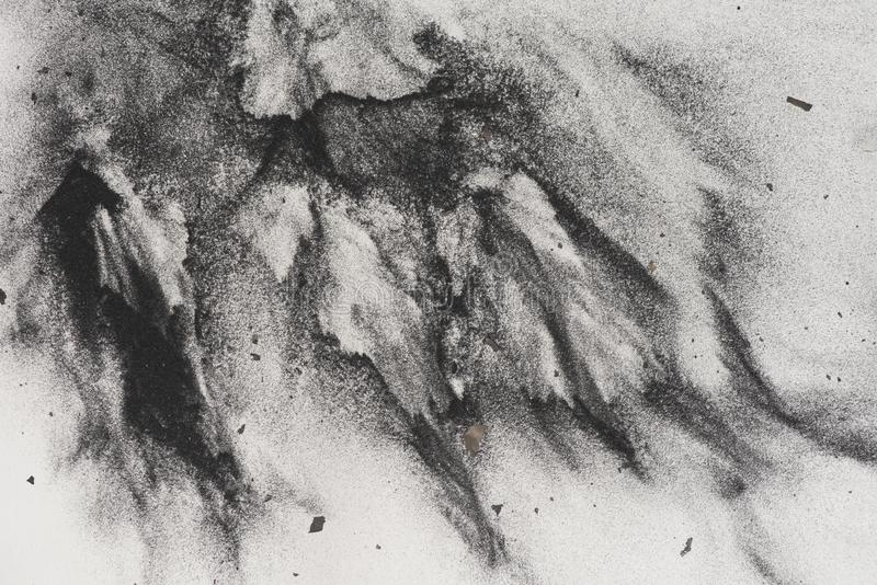 Charcoal powder on paper  stock images