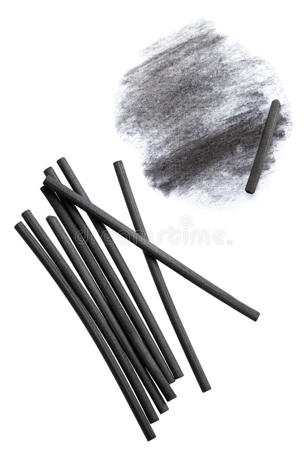 Charcoal Sticks stock photography