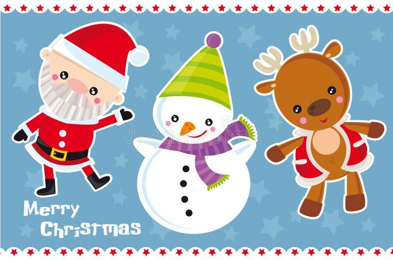 Charcters van Kerstmis stock illustratie