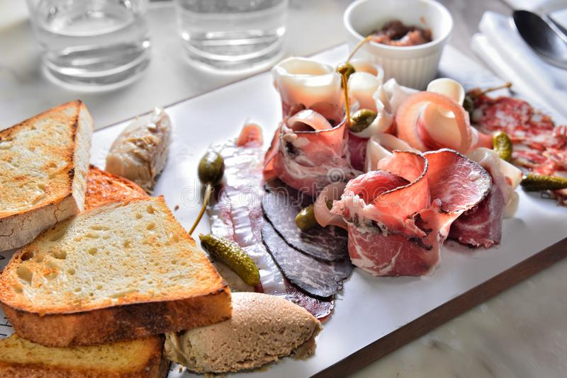 Charcuterie Platter Cold dish stock photography