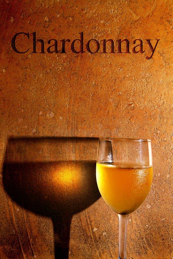 Chardonnay άσπρο κρασί στοκ φωτογραφίες