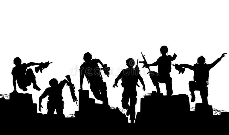 Download Charge stock vector. Image of warfare, armed, army, people - 22215838
