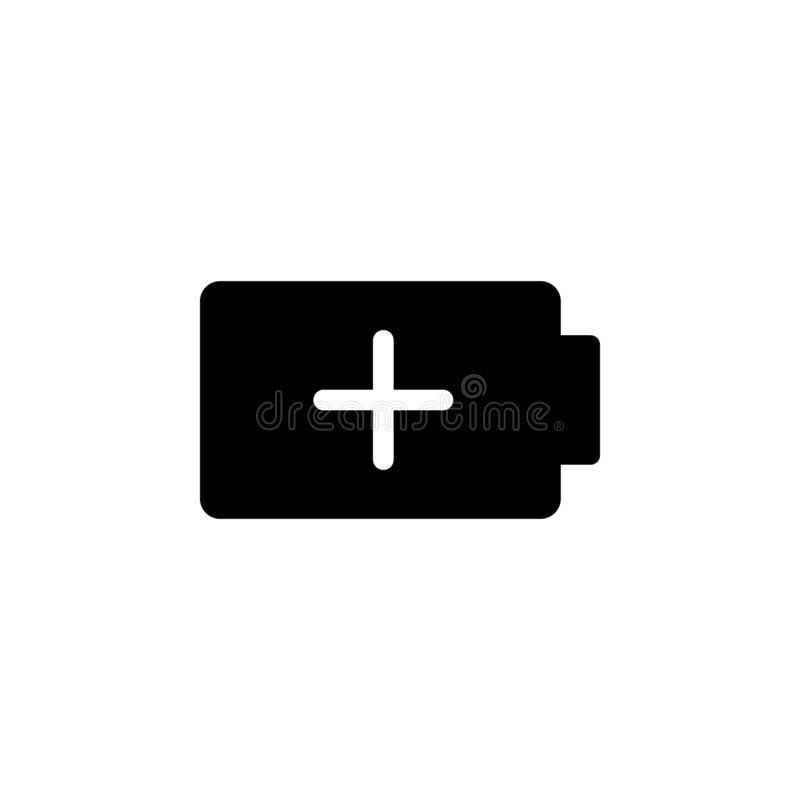 Charge, add, battery vector icon. Simple element illustration from UI concept.  Mobile concept vector illustration. Charge, add, vector illustration