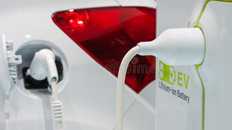 Charge car stock photo