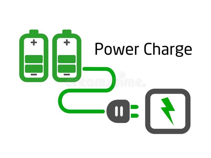 Charge de batterie avec le vecteur de fiche illustration de vecteur