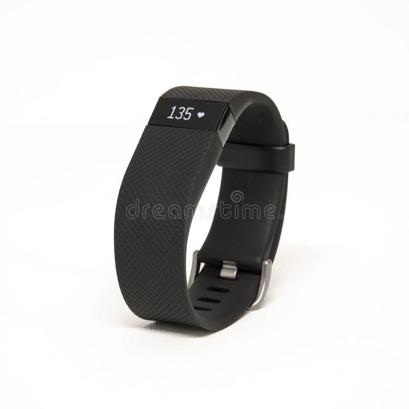 Charge heure de Fitbit images stock