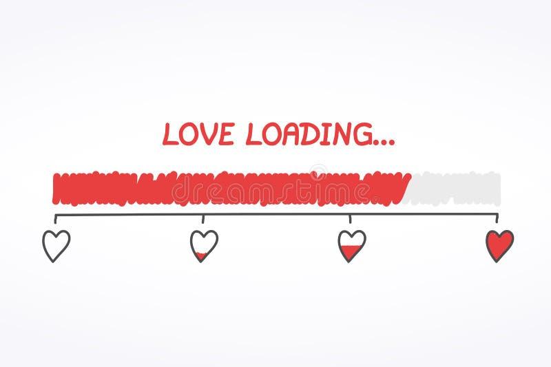 Chargement d'amour illustration stock