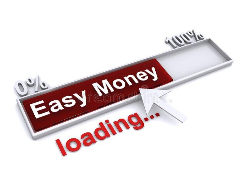Chargement d'argent facile illustration libre de droits