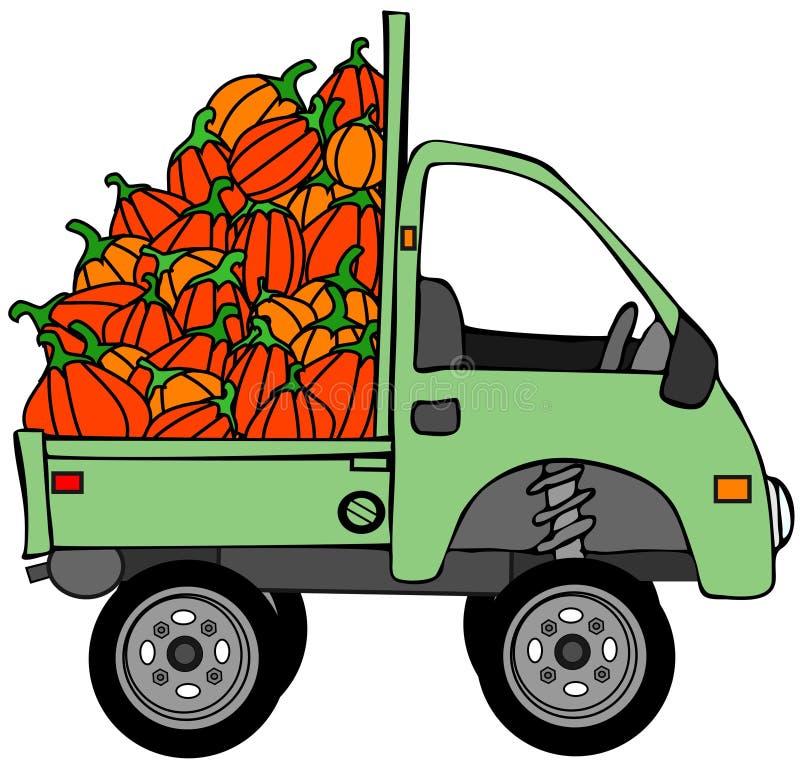 Chargement de camion de potirons illustration stock