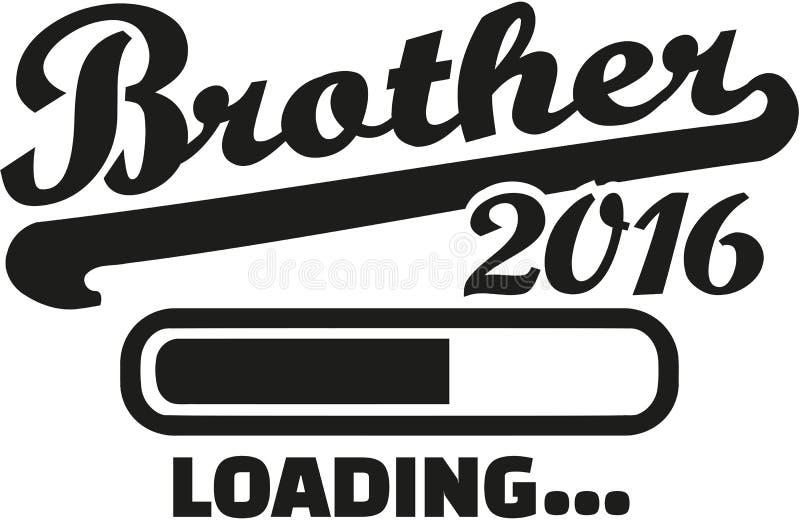 Chargement 2016 de frère illustration stock
