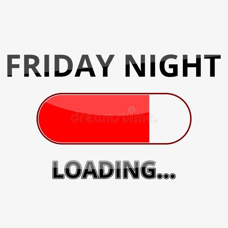 Chargement vendredi soir du signe d'illustration illustration stock