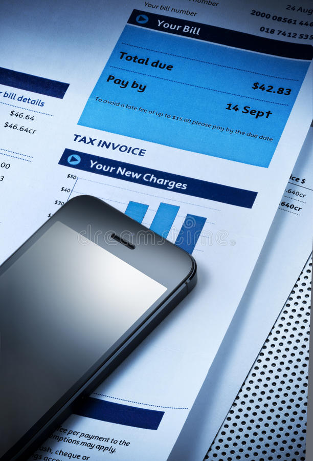 Charges Cell Phone Bill Stock Images