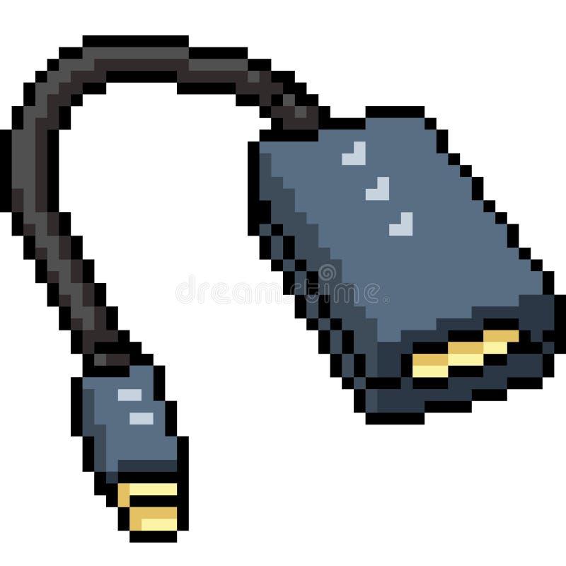 Chargeur d'usb d'art de pixel de vecteur illustration libre de droits
