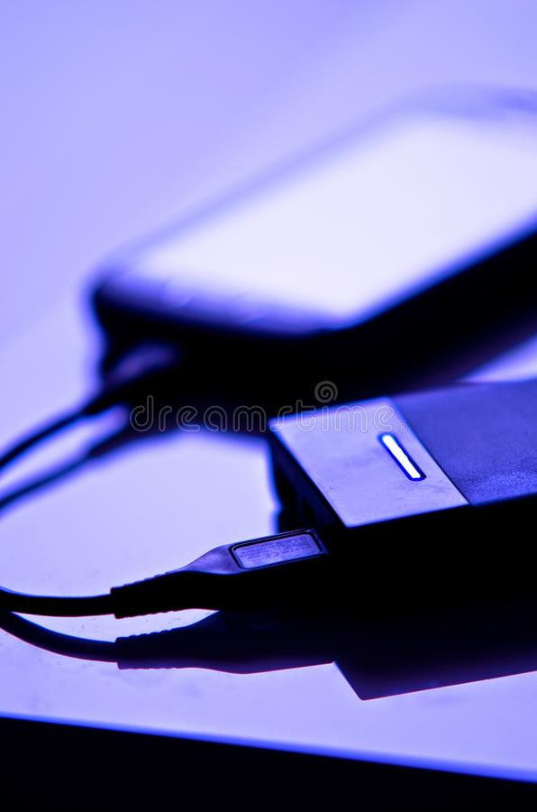 Chargeur de téléphone portable photos libres de droits