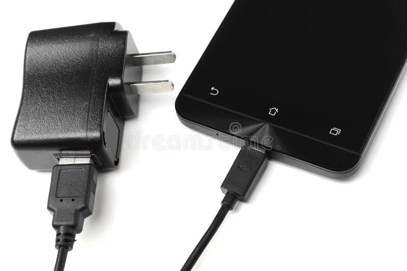 Chargeur de téléphone portable et d'adaptateur image libre de droits