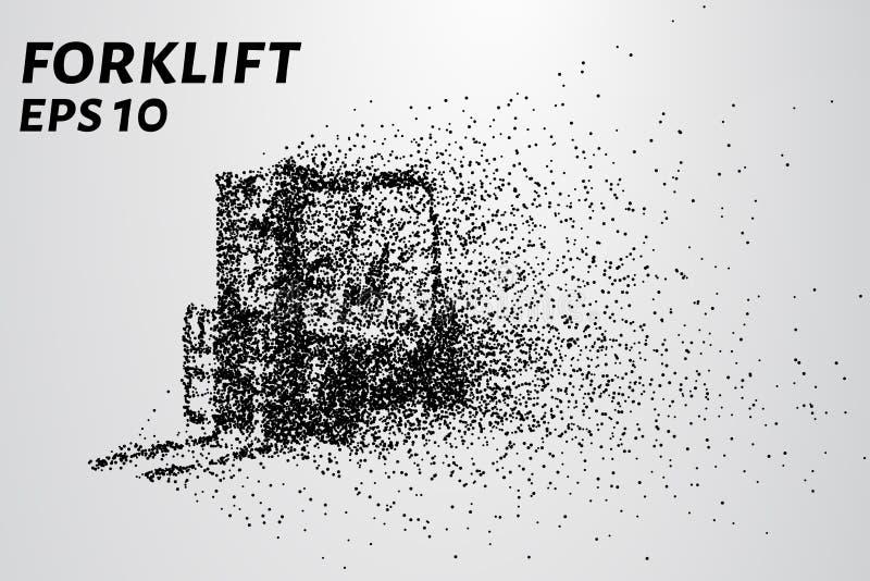Chargeur des particules Le chargeur de cargaison se compose de petits cercles Illustration de vecteur illustration stock
