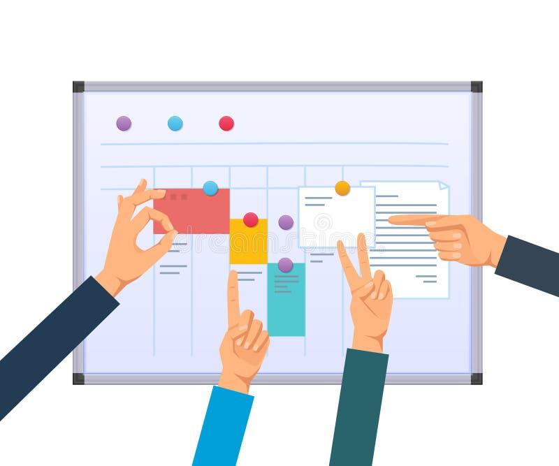 Chargez la planification, le travail d'équipe et les solutions, traitement multitâche, planification des affaires, contrôle de tr illustration libre de droits