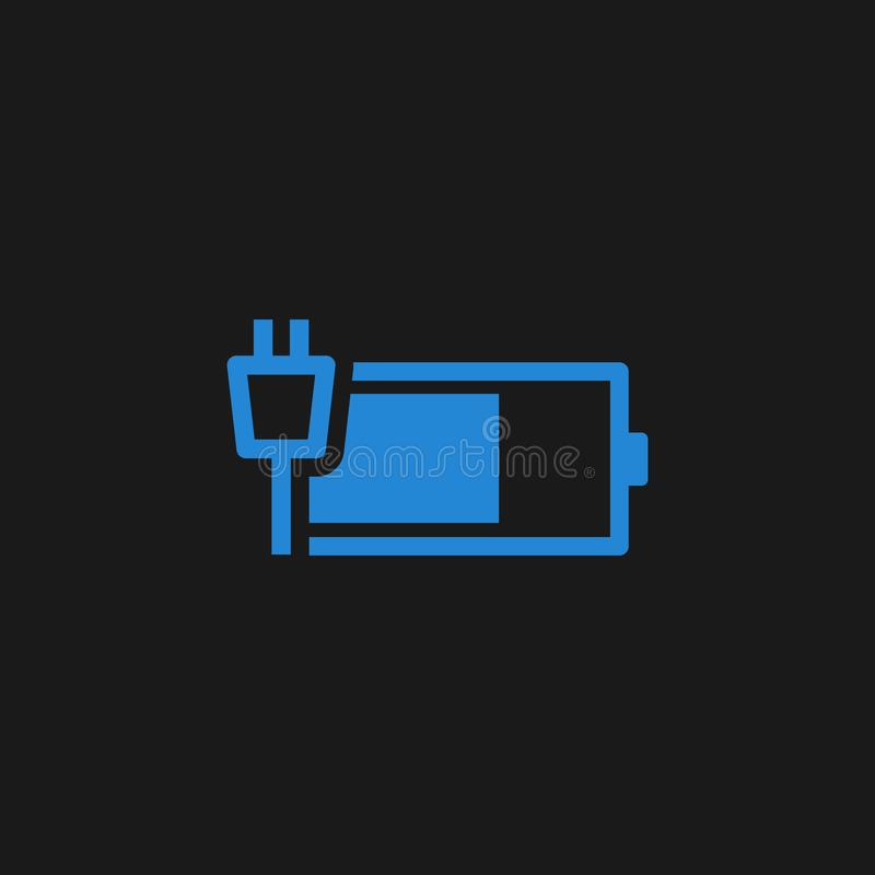 Charging battery icon stock illustration