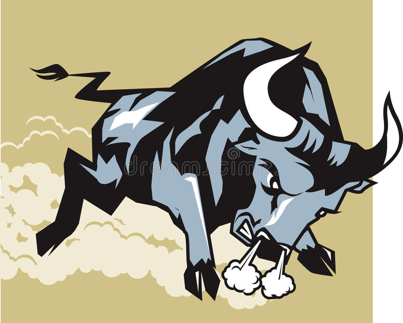 Download Charging Bull stock vector. Illustration of character - 23295046