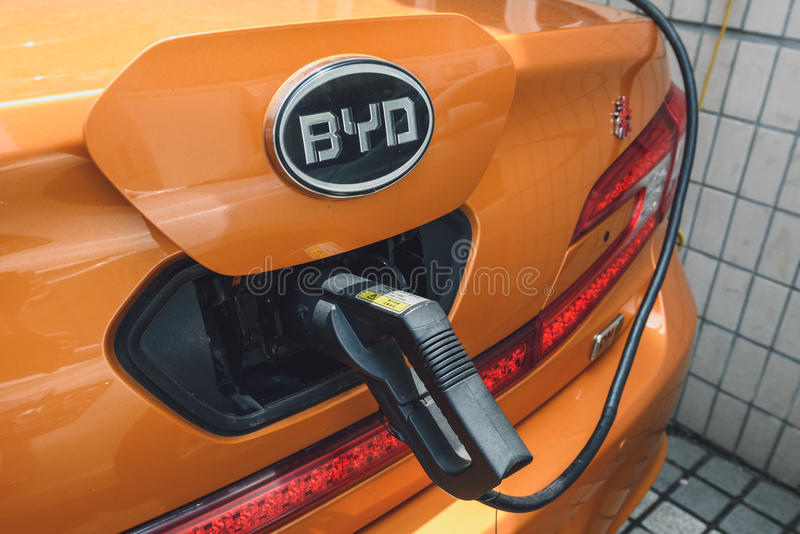 Charging BYD electric royalty free stock images