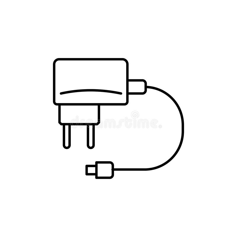 charging for the phone icon. Element of home appliances for mobile concept and web apps. Thin line icon for website design and dev vector illustration