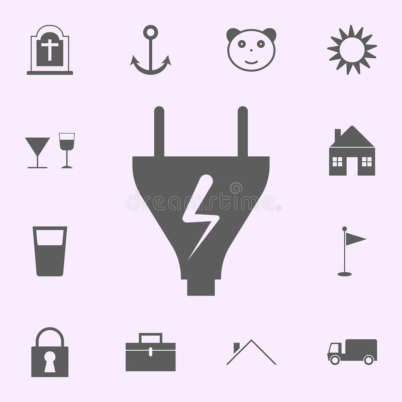 charging place icon. signs of pins icons universal set for web and mobile stock illustration